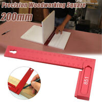 Aluminum 200mm Precision Woodworking L-Square Angle Ruler Inch/Metric Machinist