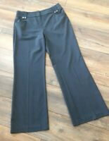 Per Una M&S Ladies Size 12 Blue Smart Wide Leg Trousers Work Career Formal