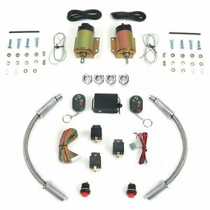 4 Function 35 Lb Remote Shaved Door Popper Kit with 12 Aluminum Door Loom