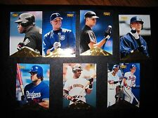 1996 Pinnacle Baseball Series 1 Checklist Lot 7 Cards Ripken, Griffey -- MINT!!