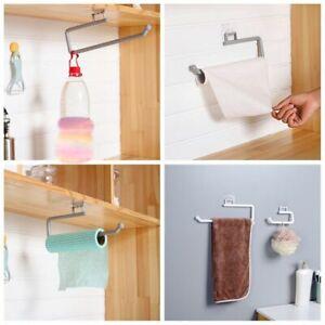 Kitchen Plastic Toilet Towel Paper Hanger Self Adhesive Holder