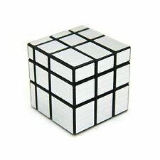 ShengShou 3 x 3 Mirror Cube Puzzle Silver Black plastic color O... Free Shipping