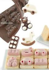 NEW 12 TOYS CAR BEAR BRICK SHAPE SILICONE ICE SWEET CHOCOLATE MOULD 7 PAVONI