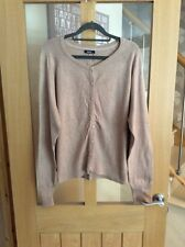 M&Co Beige Long Sleeve Cardigan - Size XXL
