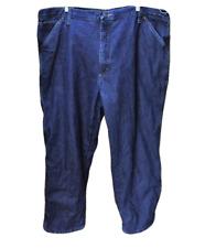 Wrangler Mens 42X30 Carpenter Jeans Relaxed Fit Denim Fleece Lined Zip Fly
