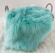 "Faux Fur Aqua Photo Prop Newborn 18""x20"" Inches Photography Blanket!"