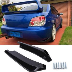 Glossy Black Rear Bumper Splitter Lip Diffuser Canard For Subaru Impreza WRX STI