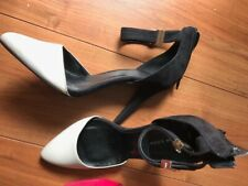 Ladies White And Black Heel Shoes New Look Size 7 or 40