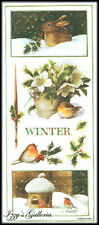 Vintage Marjolein Bastin Large Winter Greens Bunny Holly Birds Berries Stickers
