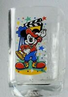 2000 McDonalds Walt Disney World Glass Cup Mickey Mouse Magic Kingdom Hollywood