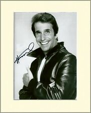 HENRY WINKLER THE FONZ HAPPY DAYS PP 8x10 MOUNTED SIGNED AUTOGRAPH PHOTO