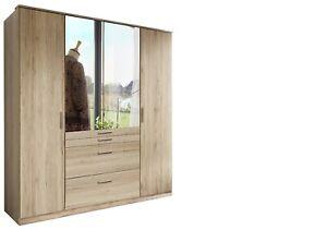 Aberdeen 4 door in San Remo Oak wardrobe
