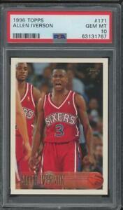 1996 Topps #171 Allen Iverson RC Rookie Gem Mint PSA 10