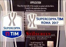 2017 Juventus vs Lazio SUPERCOPPA FINAL Official STILSCREEN Badge Patch Set