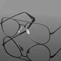 Fashion Unisex Big Memory Metal Frame Clear lens Vintage Retro Geek Eye Glasses