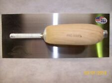 "harrington professional Plaster trowel with wooden handle 11""x 4-1/2""  p3c new"