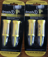 (2) BRUSH T XLT 2 PK (4 TOTAL TEES) NEW IN PACKAGE GOLF TEE BRISTLES