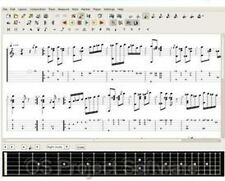 Guitar Notation Sheet Music Score Song Writing Creator NEW Software Program CD