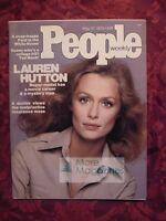PEOPLE May 12 1975 5/12/75 LAUREN HUTTON Ted Mack Lella Lombardi Tom Mcmillen