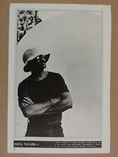 "1970s jazz magazine photo cutting 7x10"" CECIL TAYLOR"