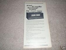 "Bozak 929 Amp Ad from 1966,7"" x 11"" Rare!"