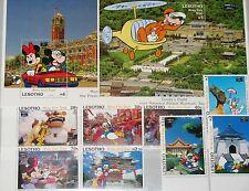 LESOTHO 1993 1071-78 Block 109-10 979-988 TAIPEI 93 Disney Cartoons Goofy MNH