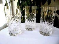 Set of 3 Vintage Crystal Highball Glasses