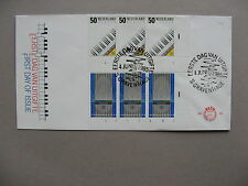 NETHERLANDS, cover FDC 1985, Europe CEPT,  strips with plateno's, organ piano