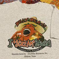 Billy Beans Hot Sauce T Shirt Mens Adult XL Gray Abilene Texas Peppers