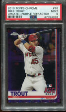 2019 Topps Chrome Update Mike Trout Purple Refractor #'d 109/175 PSA 9 Mint