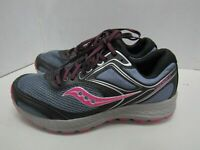 WOMENS SAUCONY GRID COHESION 12 GRAY BLACK MAGENTA RUNNING SHOES SIZE 9.5W Y216