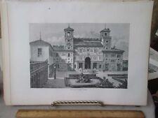 Vintage Print,VILLA MEDICI,Rome,Francis Wey,1872
