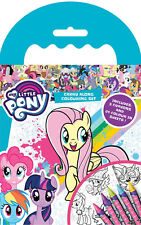 My Little Pony Carry Along Colouring Book Travel Set With 5 Colour Crayons MYCAR