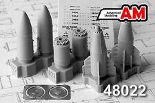 BETAB-500Shp Concrete-Piercing Bomb (Su-17/24/25/27/30/35...) AMIGO RESIN 1/48