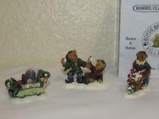 Boyds Bears Christma Village Slip & slush, Mr.Sweet treat, Elf xpress 19034-1