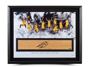 "Shaquille O'Neal Autographed 36X24 Framed Photo Floor ""Big Aristotle"" #/34 UDA"