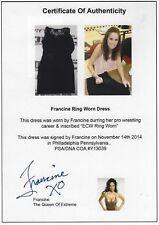 Francine Signed Ring Worn Used Dress Psa/Dna Coa Autograph Wwe Ecw Wrestling 1