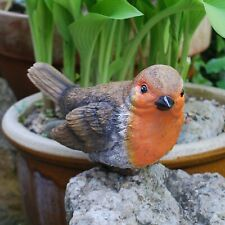 Large Fat Robin Bird Garden Ornament Outdoor Statue Decoration
