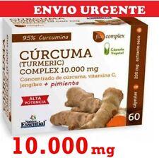 BNE006- CURCUMA TURMERIC 10.000mg + Jengibre + vitamina C  60c  Envio24h  Nature