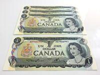 1973 Canada 1 One Dollar AD Canadian Uncirculated Consecutive Banknotes I122