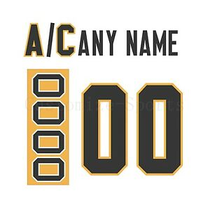 Pittsburgh Penguins Customized Number Kit for 2016-Present Away Jersey