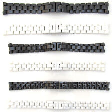 New For CHANEL Watch Strap CERAMIC Bracelet BLACK WHITE Band 14mm 16mm 19mm