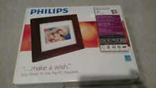 """Philips 7"""" LCD Panel Digital Photo Frame Brand New In Box 128MB"""