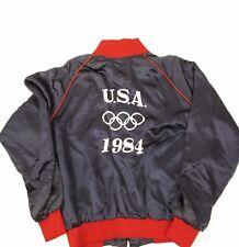 Vintage 1984 USA Olympics Embroidered Satin Bomber Jacket