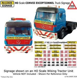 HO OO Scale UK, French, European CONVOI EXCEPTIONNEL HGV Lorry Signs Signage