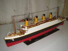 "Titanic high quality wooden model cruise ship 32"" fully assembly"