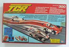 Vintage Slot Race Car Set TCR Circuit Piste 300 Indianapolis Daytona 1980's MIB