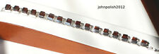 Heavy Squared  Baltic Amber Bracelet with Silver 925