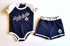 Mighty Mac Girl 18 mo NHL Toronto Maple Leafs Team Onepiece Bodysuit Shorts Set