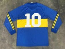 Maradona 10 Customized 1981 Boca Juniors Home Long Sleeve Retro Soccer Jersey